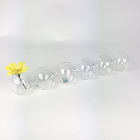 Clear Glass Caterpillar Vase