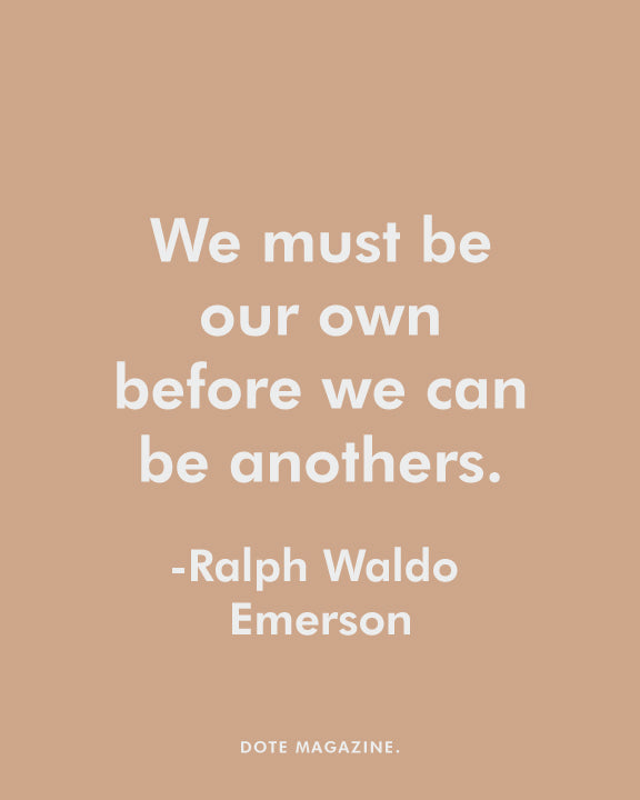 Dote Quote - Ralph Waldo Emerson (Dark background)