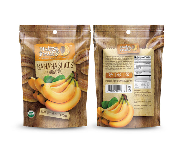 Banana Natural Long Sliced - Organic