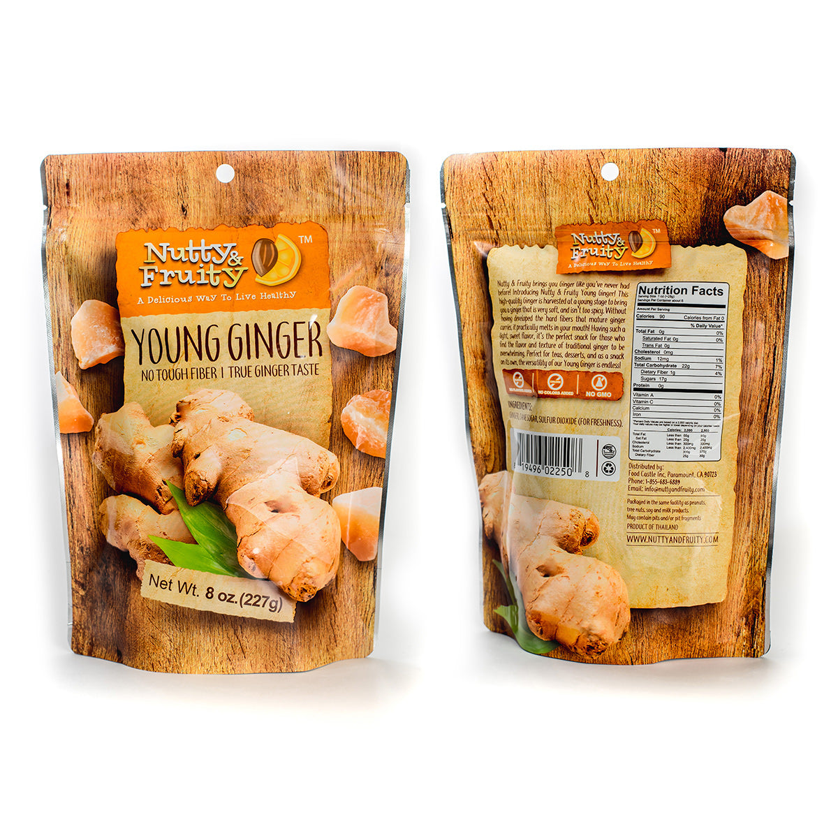 Dried Young Ginger Bites