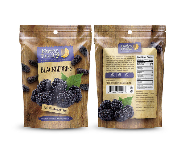 Whole Blackberries - Dried