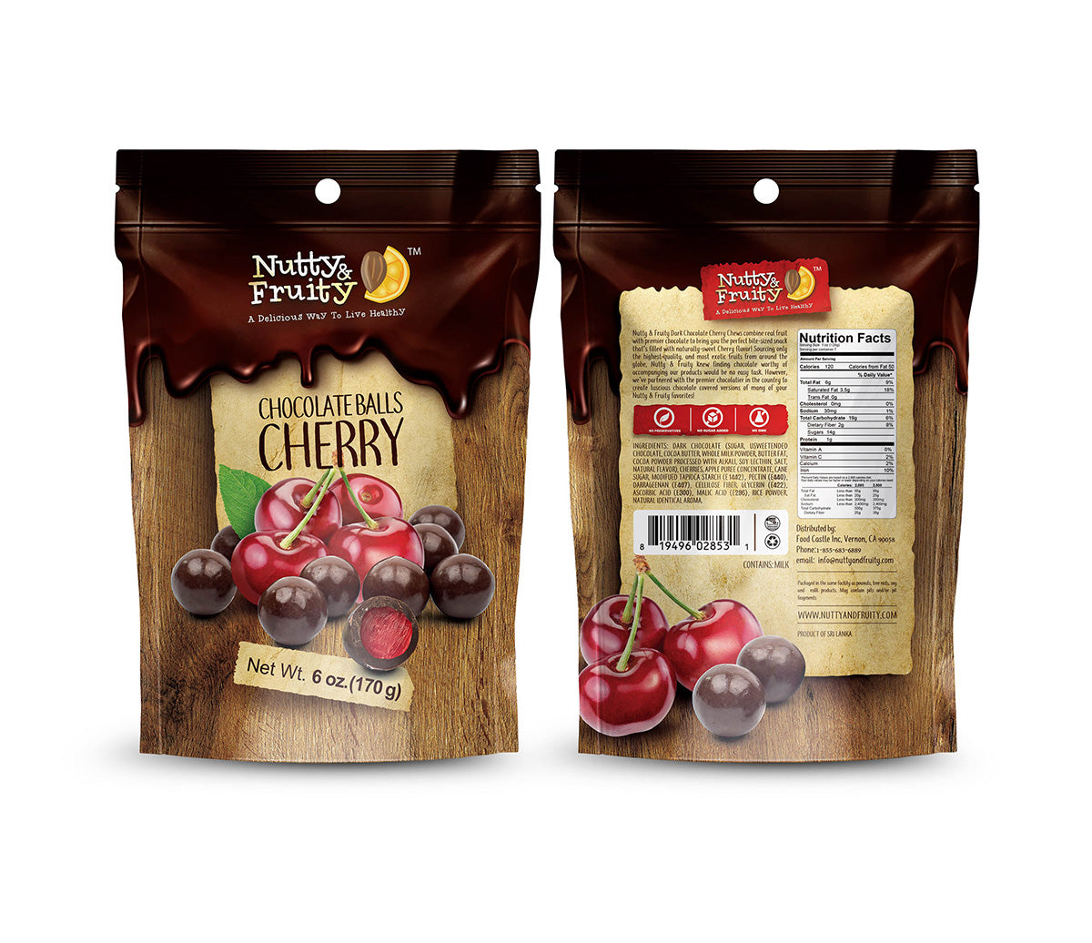 Dark Chocolate Covered Cherry Chews