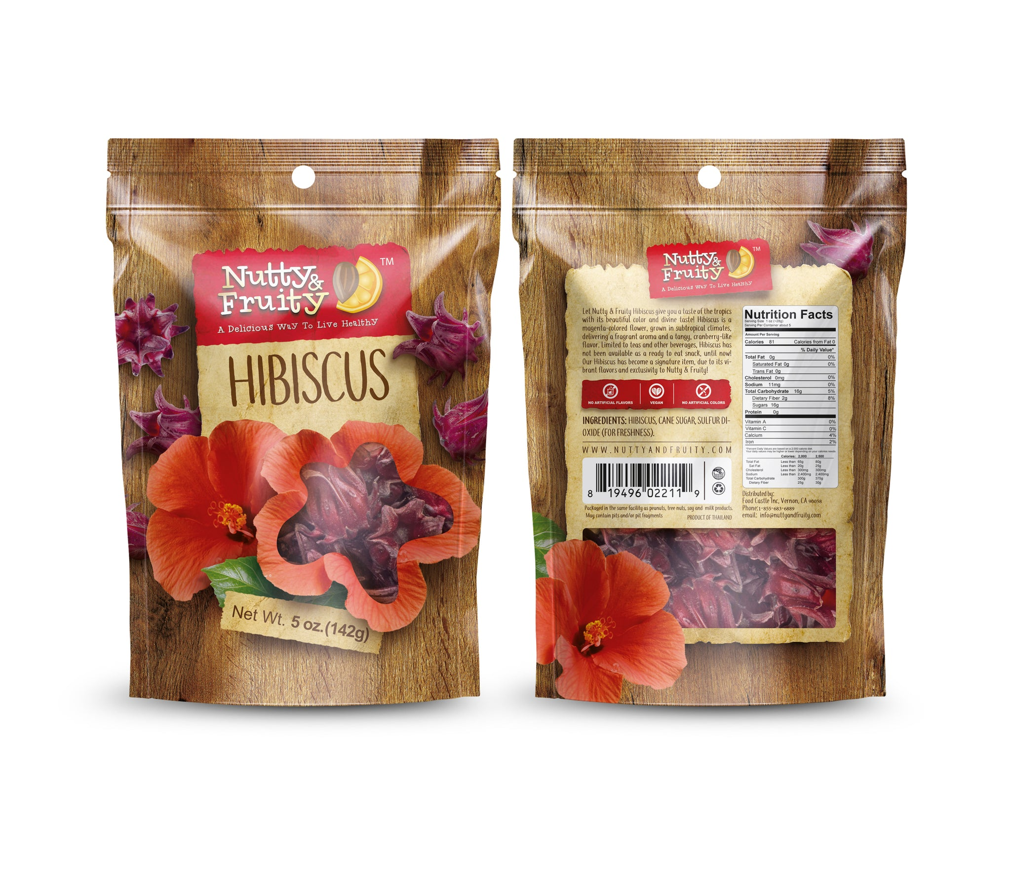 Dried Eatable Hibiscus Flower Bee Fruitty Nutty
