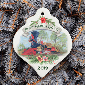 2019 Porcelain Christmas Ornament - Harrisburg, Lincoln & Lancaster Railroad