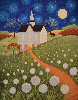 "16 x 20"" Limited Edition Signed and Numbered Prints (on canvas) of ""Dandelion Moon"" by Mary Charles"