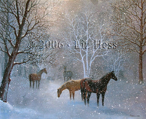 """Equestrian Snow"" Notecard - Liz Hess Collection"