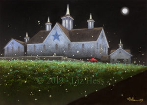 """Fireflies at The Star Barn"" Print - Liz Hess Collection"