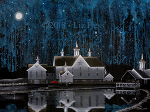 """Moon Over The Star Barn"" Print, Notecard - Liz Hess Collection"
