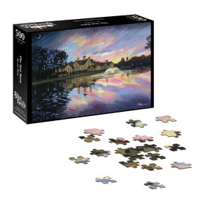 Moonrise, Sunset at the Star Barn Puzzle