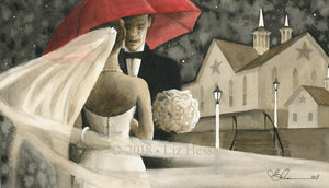 """Star Barn Nuptials"" Notecard - Liz Hess Collection"