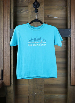 Shepherd's Staff Petting Zoo - Teal Child's Tee