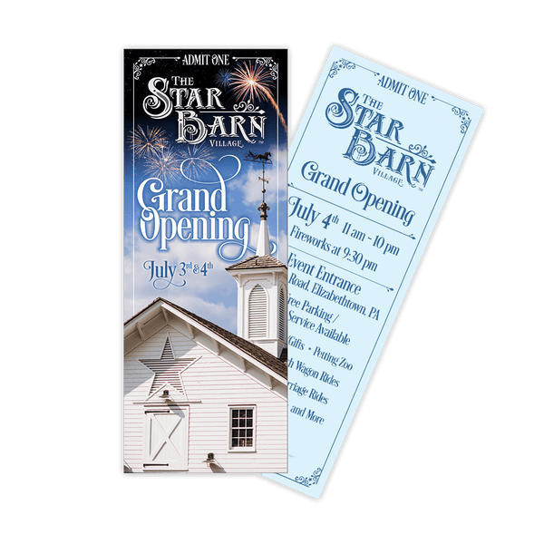 Event Ticket - The Star Barn Village Grand Opening