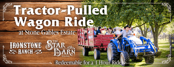 Tractor-Pulled Wagon Ride at Stone Gables Estate - Gift Certificate