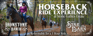 Horseback Ride Experience at Stone Gables Estate - Gift Certificate