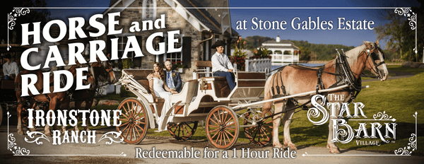 Horse and Carriage Ride at Stone Gables Estate - Gift Certificate