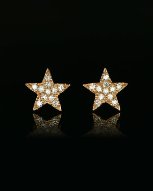 Rose Gold Star Post Earrings