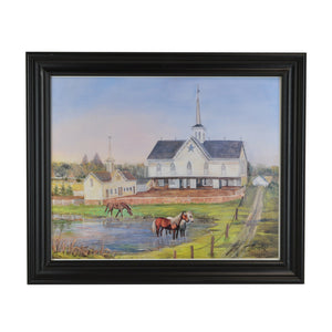 """The Star Barn in Summer"" Print by Janet Bricker"