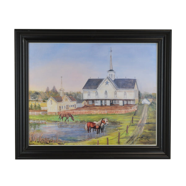 Star Barn Painting - Bricker (Does not include Frame)
