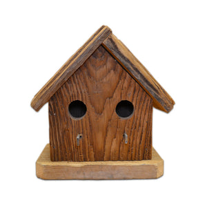 Handmade Birdhouse - Two-Hole Horizontal