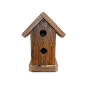 Handmade Birdhouse - Two-Hole Vertical