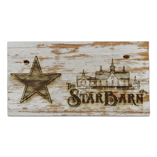 Limited Edition Star Barn Outbuilding Plaque, Engraved with The Star Barn Logo