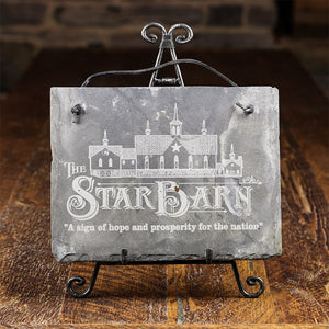 Limited Edition Slate Plaque with Star Barn Logo and Verse