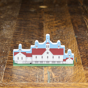 Cat's Meow Star Barn Wood Block