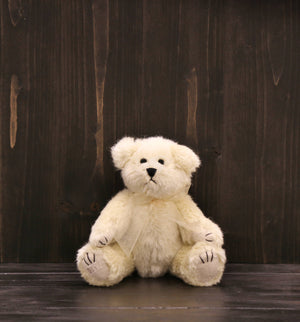 "Ditz Jointed Stuffed Bear (6-1/2"") - Ivory"