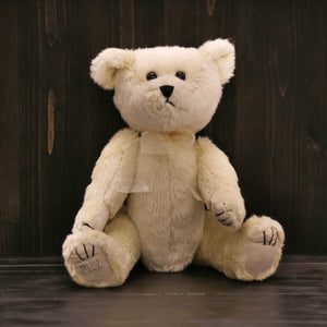 "Ditz Jointed Stuffed Bear (12"") - Ivory"