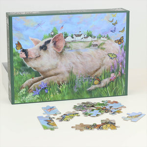 """Wish Upon a Star Barn"" Puzzle - Painting by Terri Palmer"