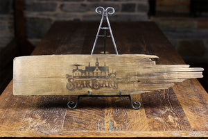 Limited Edition Original 1877 Star Barn Cedar Shingle, Engraved with The Star Barn Logo