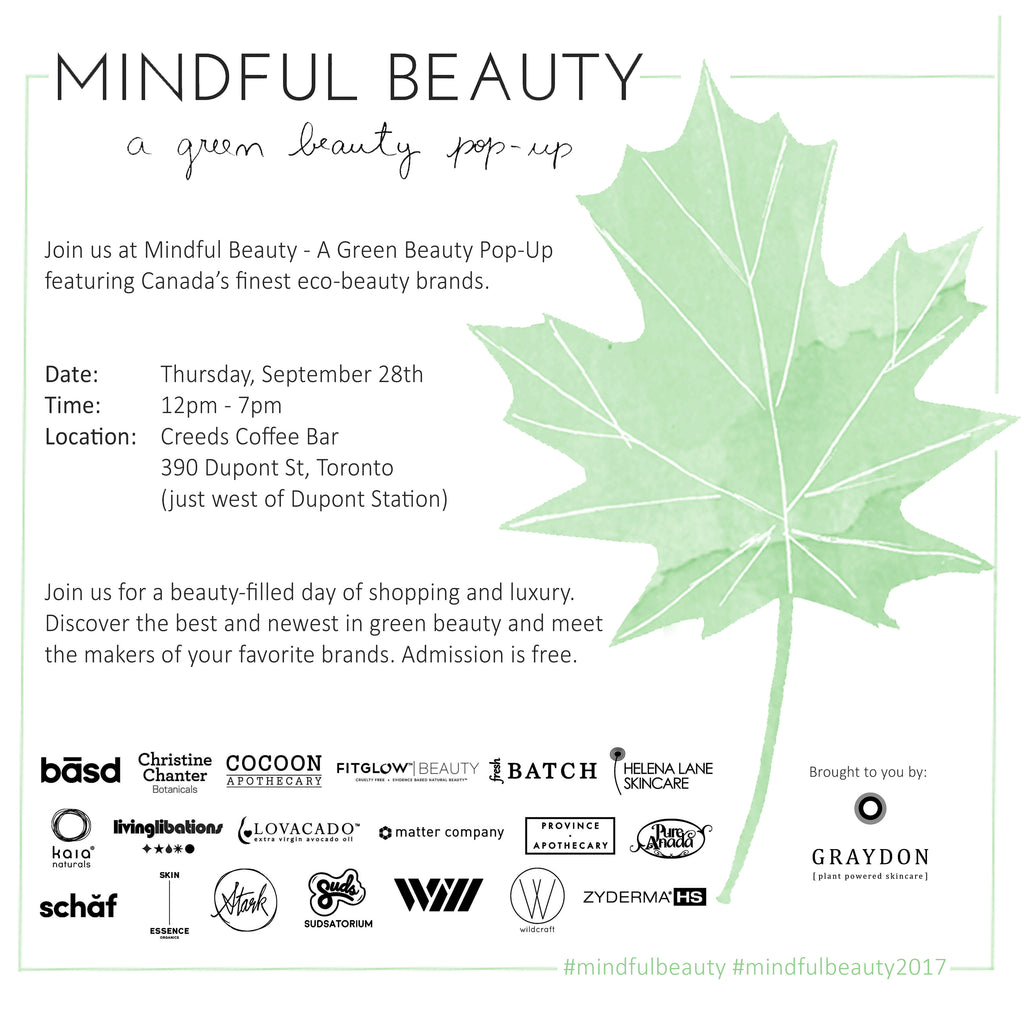 Mindful Beauty - A Green Beauty Pop-Up