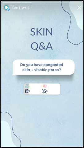 Results of Congested Skin Poll on Instagram