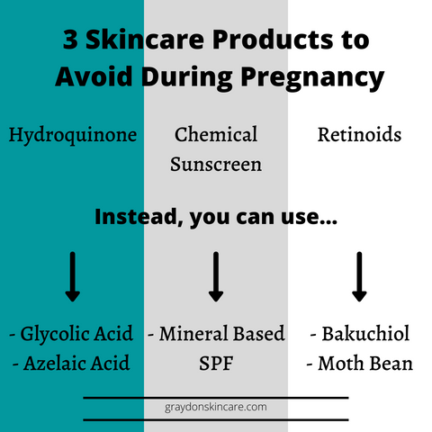 3 skincare products to avoid during pregnancy