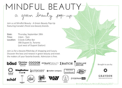 mindful beauty pop up 2017