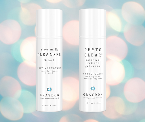 Graydon Skincare Aloe Milk Cleanser and Phyto Clear Niacinamide Combo