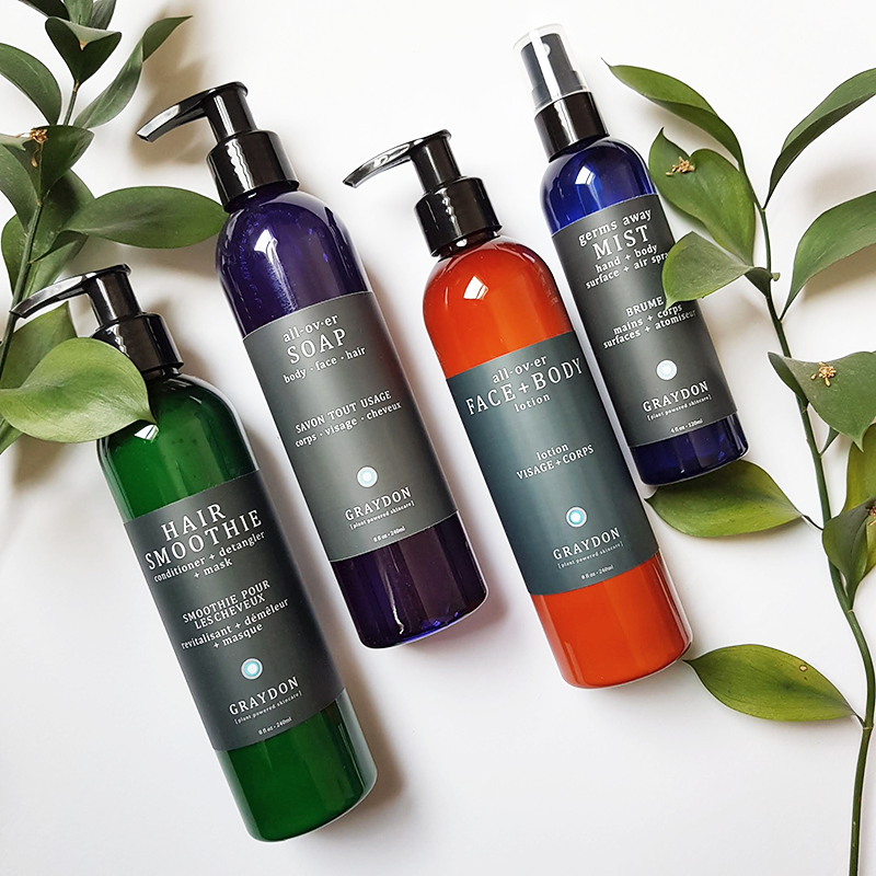 body face and hair lotions - Graydon Skincare