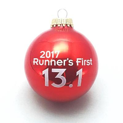 runners first 131 half marathon 2017 christmas ornament red