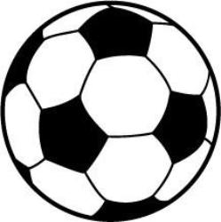 Soccer Ball Round Decal White With Black Print