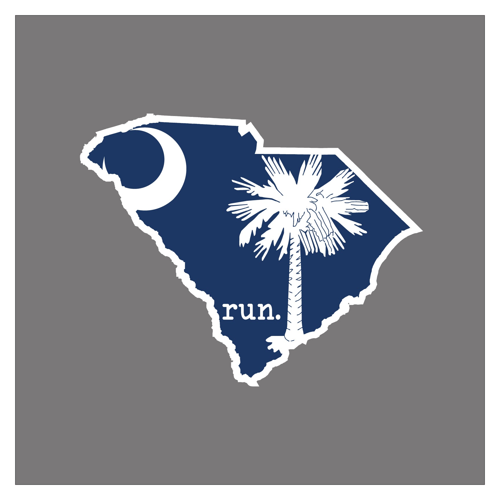 Run South Carolina State Outline Magnet State Flag Background Baysix