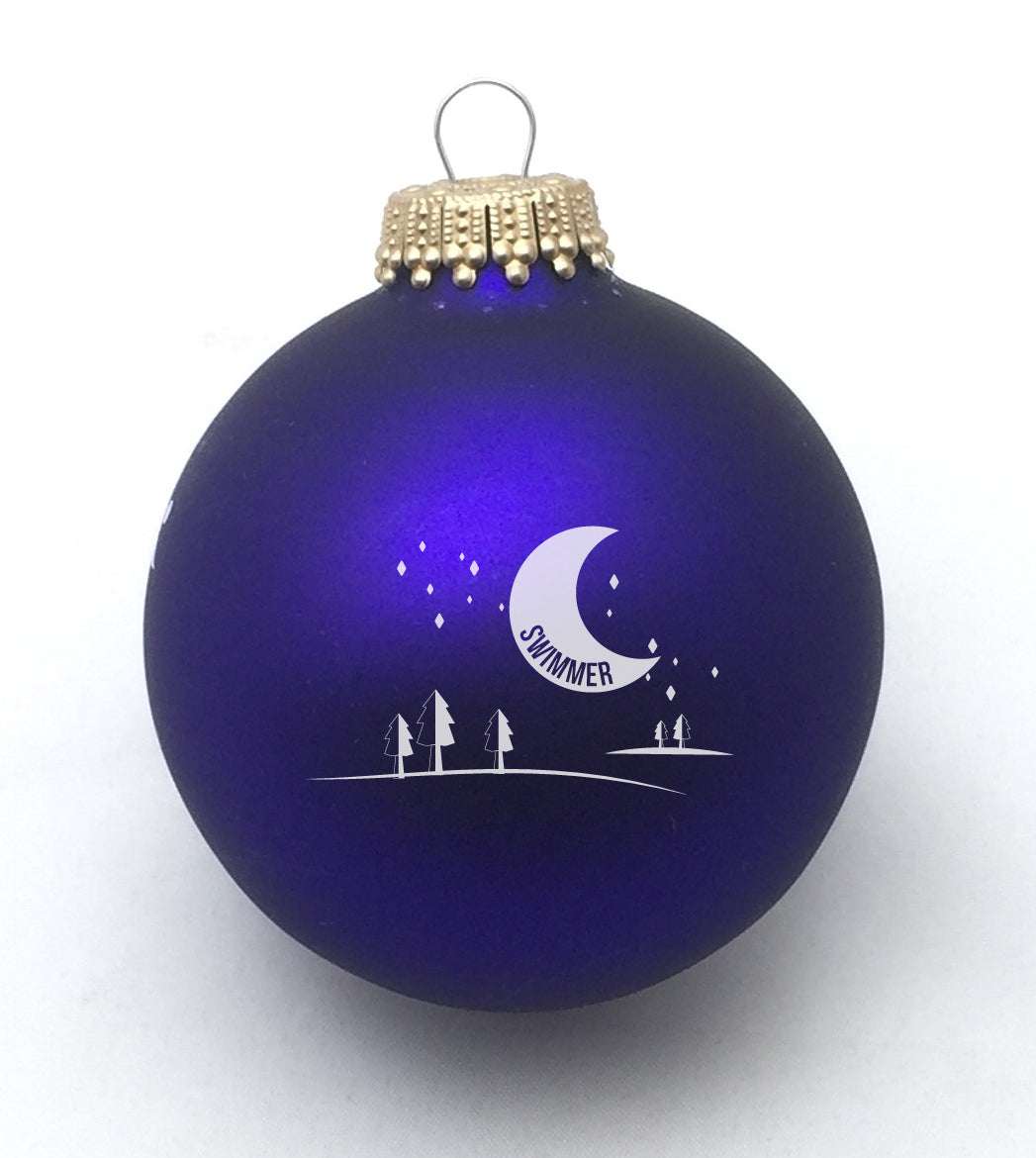 Swimmer Starry Night Christmas Ornament Various Colors