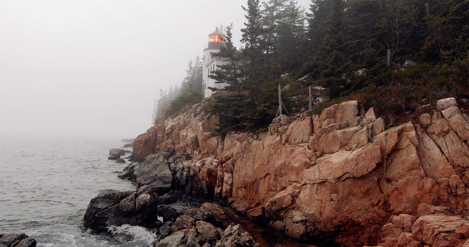 Free 4K UHD Stock Video: Acadia National Park Lighthouse