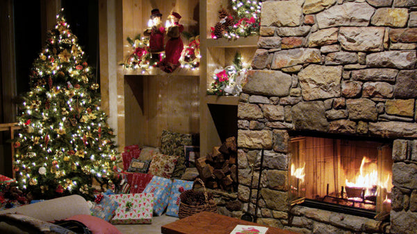 Free 4K Stock Video: Christmas House Full of Holiday Cheer