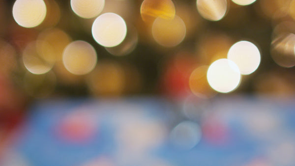 Free 4K Bokeh Stock Video:  Holiday Lights Out of Focus