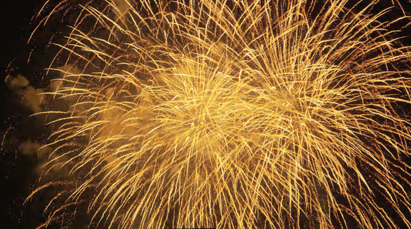 Free 4K Explosion Stock Video: Golden 4th of July Fireworks