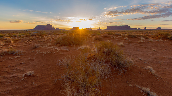 Free 4K UHD Travel Stock Video: Time Lapse Desert Sunrise