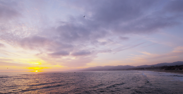 Free 4K Nature Stock Video: Sunset over Malibu California Beach