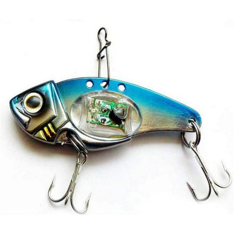 Blinking Multicolor LED Light Double Treble Hooks Metal Fishing Lure - All-unique-things