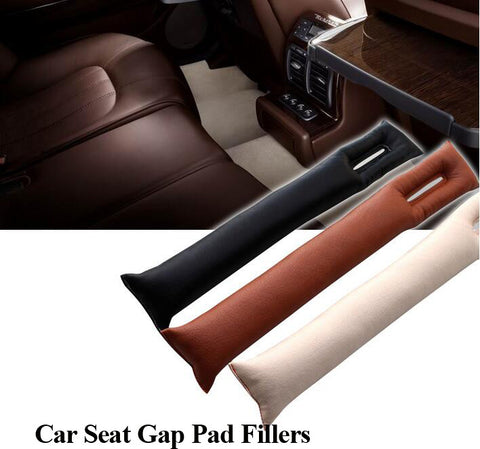 car-styling PU Leather Car Seat Gap Pad Fillers Holster Spacer Padding Drop Stop Case Auto Cleaner Slot Plug Stopper Gap Filler - All-unique-things