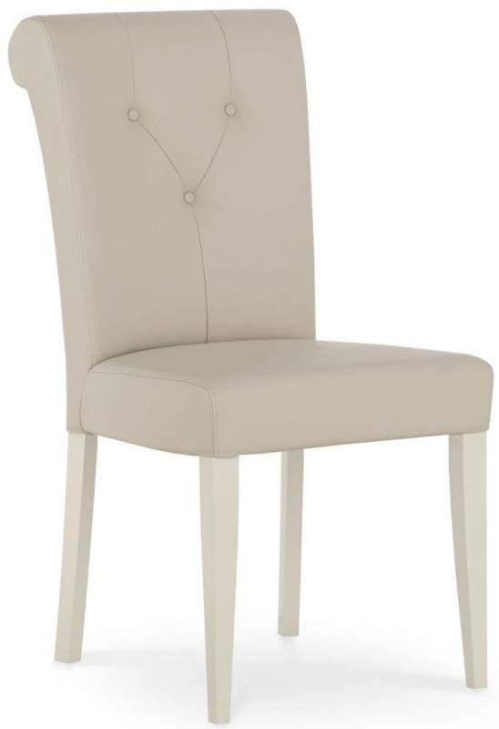 Admirable Bentley Designs Montreux Antique White Dining Chair Upholstered Bonded Leather Pair Spiritservingveterans Wood Chair Design Ideas Spiritservingveteransorg
